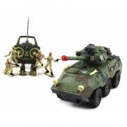 Радиоуправляемый военный бронетранспортер Armored Car (свет, звук, 30 см, фигурки)