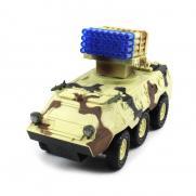 Радиоуправляемый военный бронетранспортер-БТР (свет, звук, 30 см, фигурки, аккум.)