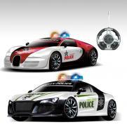 """Радиоуправляемый конструктор - 2 машинки Bugatti Veyron и Audi R8 """"Полиция"""""""