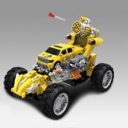 Радиоуправляемый желтый джип стреляющий ракетами - 333-BB03 (свет, музыка, 24 см)