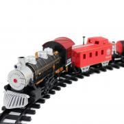 Детская железная дорога Huan Nuo - 3500-3A (свет, звук, дым, 20 деталей)