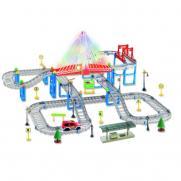 Автотрек детский Dream Track 3602Y (подсветка, 1 машинка, 159 деталей)