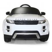 Электромобиль для детей джип Land Rover Evoque белый 12V на пульте (свет, звук, 120 см)