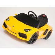 Электромобиль для детей радиоуправляемый Lamborghini Aventador LP 700-4 желтый (звук, свет, 110 см)