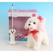 """Радиоуправляемая плюшевая собака """"Болонка"""" 9697B4 (23 см, звук, виляет хвостом)"""
