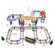 Детский автотрек Huan Qi 214 деталей (машинка, с подсветкой)