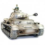 Радиоуправляемый танк с железными гусеницами PzKpfw.IV Ausf.F2.Sd.Kfz 1:16 3859-1 PRO (дым, свет, звук, стрельба, 50 см)