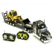 Радиоуправляемый грузовик с трактором в комплекте 1:20 (свет, 56 см)