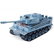 Радиоуправляемый танк German Tiger ТИГР 1:20 серый (пневмопушка, свет, звук, 35 см)