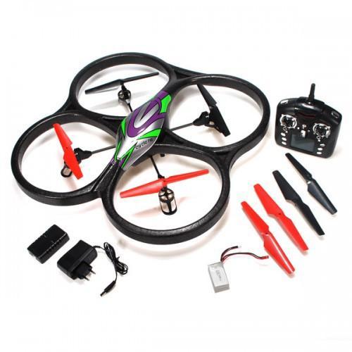 Радиоуправляемый квадрокоптер WLToys V262c С КАМЕРОЙ UFO Drones 2.4G (видео HD, 61 см, 4 канала, подсветка)