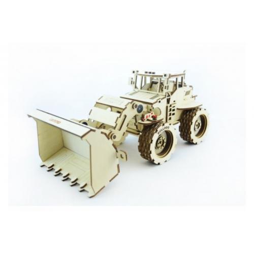 Конструктор 3D деревянный подвижный Lemmo Трактор Бульдог Б-1