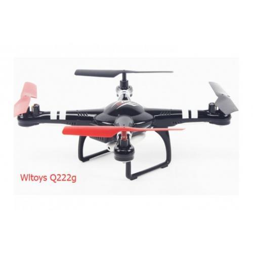 Радиоуправляемый квадрокоптер WL Toys Q222G с камерой (видео на пульт, 27 см)