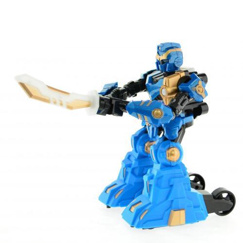 Радиоуправляемый робот с мечом Robot Warrior (пульт-меч, 22 см, свет, звук)