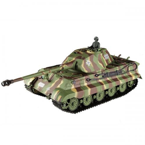 Радиоуправляемый танк HENG LONG German King Tiger 1:16 - 3888-1 (45 см, пневмопушка, стрельба шариками)