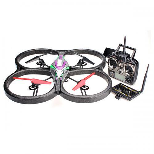 Квадрокоптер радиоуправляемый WLToys V666 FPV 2.4G (транслирующая камера, 62 см, до 150 м)