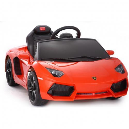 Электромобиль для детей радиоуправляемый Lamborghini Aventador LP 700-4 оранж. (звук, свет, 110 см)