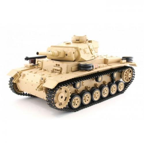 Радиоуправляемый танк Tauch Panzer III Ausf.H 1:16 3849-1 PRO  (металлические гусеницы, дым, свет, звук, стрельба шариками, 54 см)