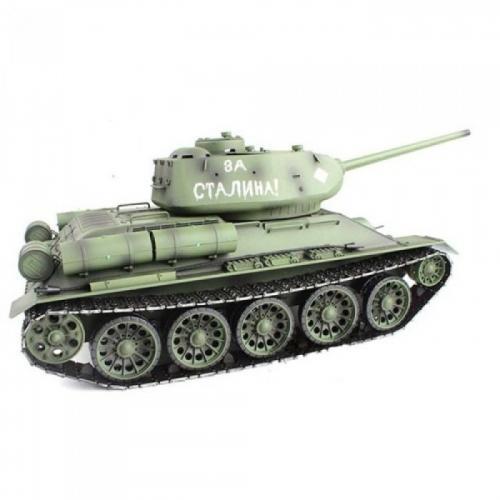 Радиоуправляемый танк Heng Long T-34/85 2.4G 1:16 (пневмопушка, свет, звук, дым, 50 см, до 35 м)
