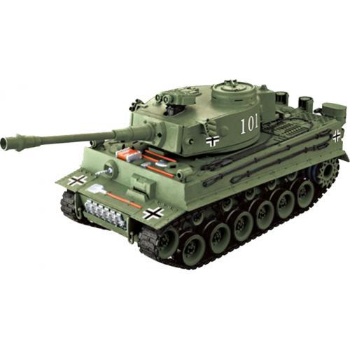 Радиоуправляемый танк German Tiger ТИГР 4101-2  1:20 зеленый (пневмопушка, свет, звук, 35см)