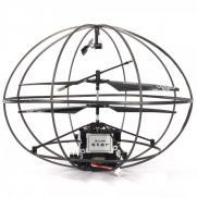 Летающий шар радиоуправляемый (вертолет в клетке) UFO 284 - 20 см