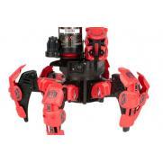 Робот паук на радиоуправлении со стрельбой, красный