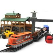 Железная дорога со станцией, длина полотна 450 см