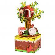 "Деревянный 3D конструктор - музыкальная шкатулка Robotime ""Tree House"""