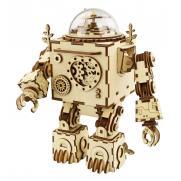 """Деревянный 3D конструктор - музыкальная шкатулка Robotime """"Робот Orpheus"""""""