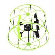 Радиоуправляемый квадрокоптер-вертолет в клетке 2.4GHz  (подсветка, 23 см, ездит по стенам)
