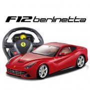Радиоуправляемый автомобиль Ferrari F12 Berlinetta 1:14, пульт-руль (33 см)