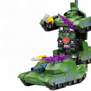 Радиоуправляемый трансформер танк стреляет присосками (33 см)