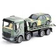 Радиоуправляемый грузовик-трейлер   джип 1:24