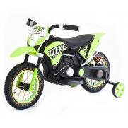 Детский кроссовый электромотоцикл Qike TD Green 6V