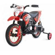 Детский кроссовый электромотоцикл Qike TD Red 6V