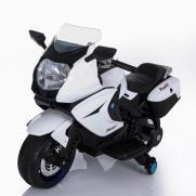 Детский электромобиль мотоцикл BMW белый