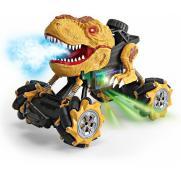 Радиоуправляемая коричневая машина-динозавр T-rex (дрифт колеса, пар)