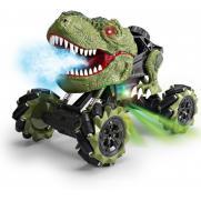 Радиоуправляемая зеленая машина-динозавр T-rex (дрифт колеса, пар)