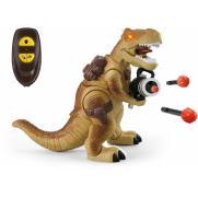 Радиоуправляемый коричневый динозавр Ти-Рекс (свет, звук, стреляет пулями)