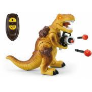 Радиоуправляемый желтый динозавр Ти-Рекс (свет, звук, стреляет пулями)