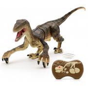 Радиоуправляемый динозавр SUNMIR Велоцираптор (коричневый), звук, свет