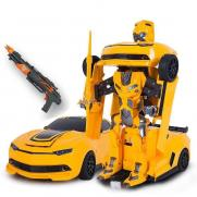 Робот трансформер машина с пультом в виде ружья Бамблби (35 см)
