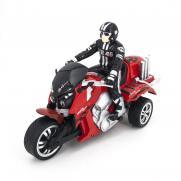 Радиоуправляемый красный мотоцикл Yuan Di Трицикл 1:10 (28 см)