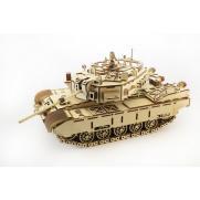 Конструктор 3D деревянный подвижный Lemmo Танк Кайман - Т-1