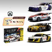 Радиоуправляемый конструктор - спортивные машинки BMW, Nissan, Bugatti Veyron и Audi R8 - 2028-4S01B