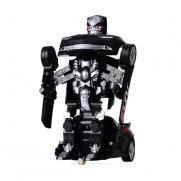Машина робот-трансформер радиоуправляемый черный (свет, звук, 28 см)