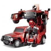 Радиоуправляемый робот-трансформер джип Охотник Crazy (свет, звук, 28 см, до 30 м)