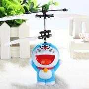 Радиоуправляемая игрушка вертолет кот-робот (12 см, свет)