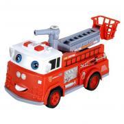 Пожарная машина с мыльными пузырями радиоуправляемая R216 (30 см, показывает язык)