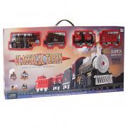 Детская железная дорога Classical Train 3501-3A на батарейках (свет, звук, дым, 21 деталь)