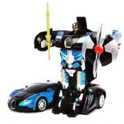 Радиоуправляемый трансформер машинка Bugatti Veyron синяя (21 см)